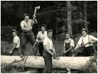 Francija. Kruh so si služili v tamkajšnjih gozdovih. 1934